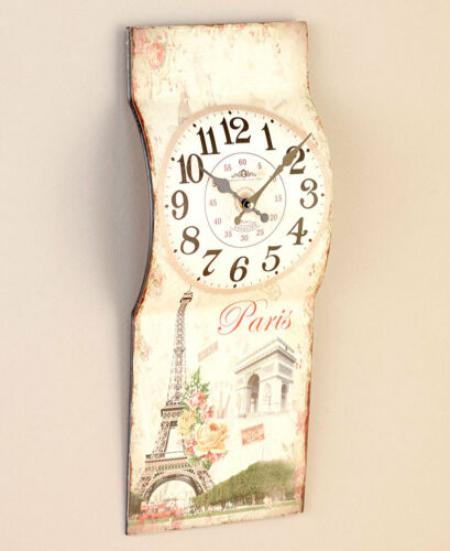 Europe Paris Eiffel Tower Clock London Big Ben Phone Booth Clock USA Flag Clock