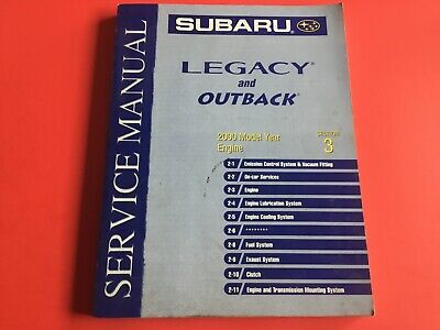 service manual subaru legacy outback 2000 engine vol 3. Black Bedroom Furniture Sets. Home Design Ideas