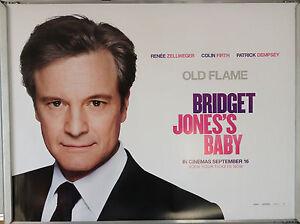 Cinema Poster Bridget Jones S Baby 2016 Colin Firth Quad Renee Zellweger Ebay
