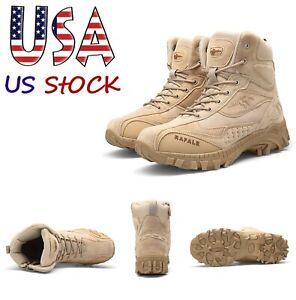 Para-Hombre-Botas-militares-tacticas-de-combate-de-Senderismo-Zapatos-de-trabajo-del-Ejercito