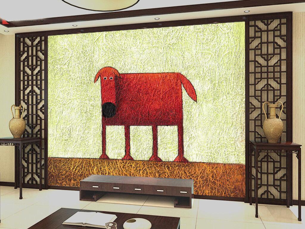 3D Cartoon Malerei Hund6 Tapete Tapeten Mauer Foto Familie Tapete Wandgemälde DE