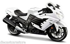 Maisto 1/12 Kawasaki Ninja ZX-14R White Motorcycles New In Box 12028WT