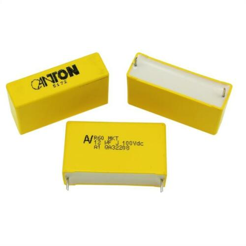 5x MKT-Kondensator radial 12µF 100V DC ; RM37,5 ; R60EW5120ZC00J ; 12uF