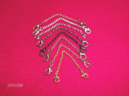 Safety Chain //Light Weight  Necklace Extender 2 x 3 mm 8 Colors  3 Inches