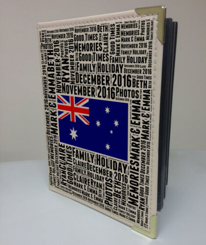 """Australia vacaciones luna de miel libro de memoria Personalised 7x5/"""" X 36 álbum de fotos"""