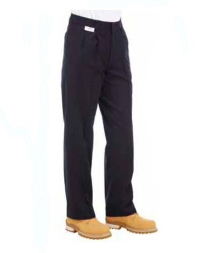 "Protal Protex Workwear Fire Retardant//Anti-Static Work Trousers 30/""R Navy T4ZZ#"