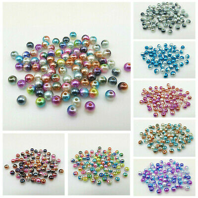 NEW ARRIVAL 100PCS 6MM AB ACRYLIC ROUND BEADS FOR JEWELLERY MAKING