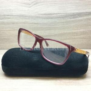 Gucci-GG-3695-GG3695-Eyeglasses-Opal-Red-Gold-Plated-3JA-Authentic-54mm