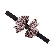 Baby Leopard Mädchen Schleife  Haarband Stirnband Kopfband Haarschmuck 9009