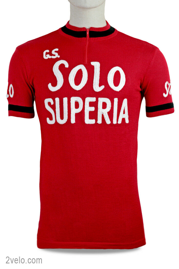 SOLO  SUPERIA vintage wool jersey, new, never worn M  up to 70% off