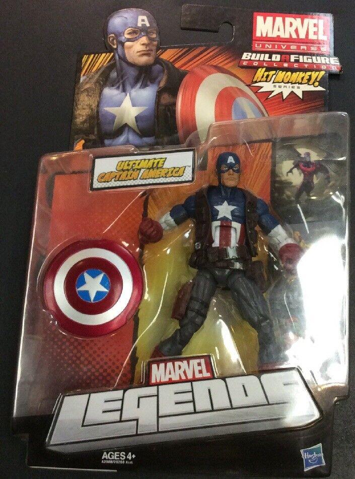 förundras Legends årgång Ultimate Captain America Action FIGURE NIP Hit Monkey BAF