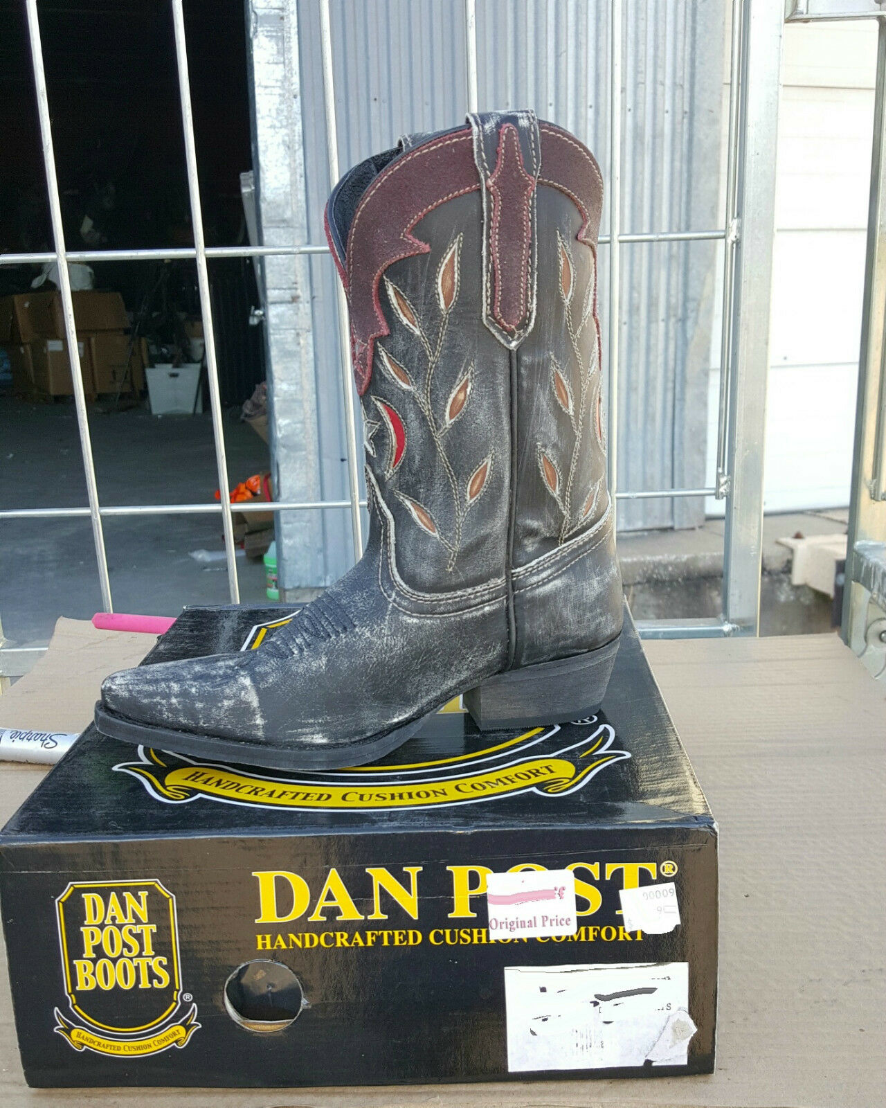 40-30 New youth 1M Dan Post g  distress inlay  western boots was 89.99  choose your favorite