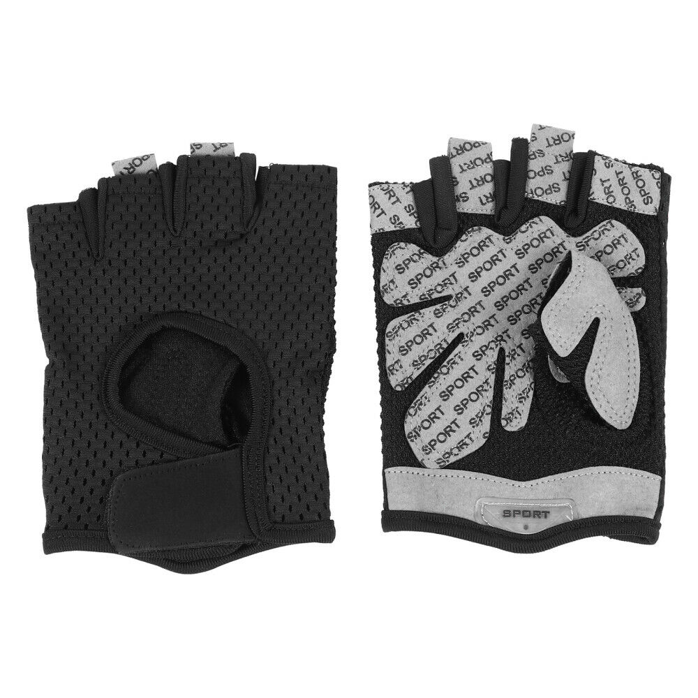 1 Pair Sports Cycling Outdoor Breathable Half Finger Gym Anti-skid