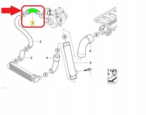 330xd X5 E53 X5 3.0d Turbo Intercooler Manguera De Tubería 11612249524 BMW 3 E46 330d