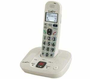 Clarity D712 Amplified Cordless Big Button Phone w/Answering Machine