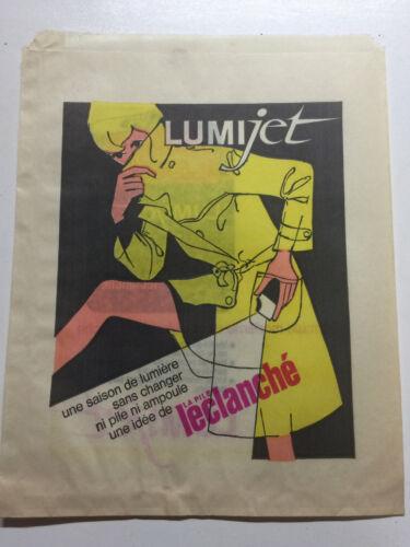 1 Ancien Sac Papier Publicitaire PILE LUMIJET SAFT LECLANCHE Vintage Colection
