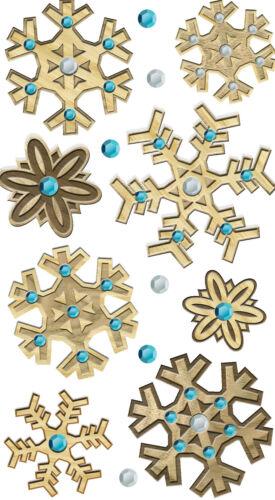 Christmas Wooden Snowflakes 3D Stickers Jolee/'s Boutique EK Success New