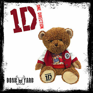 One-Direction-1D-22-034-Official-Collector-039-s-Teddy-Bear-1D-Jacket-1D-T-Shirt-NEW