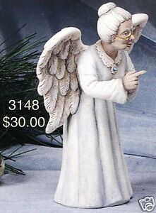 Ceramic-Bisque-Scolding-Granny-Angel-Scioto-Mold-3148-U-Paint-Ready-To-Paint