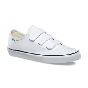 240828a184 Vans 3 Straps Style 23 V Canvas True White Mens Womens Shoes ...
