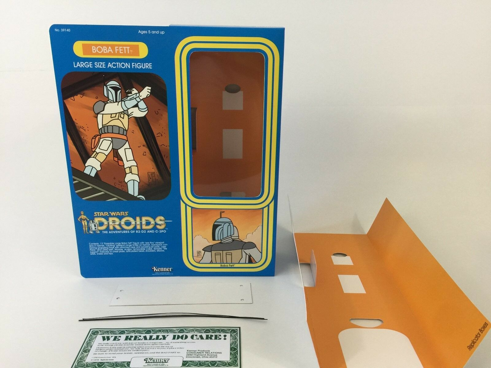 Custom vintage Star wars wars wars droids 12  boba fett box + inserts 1bcb2e