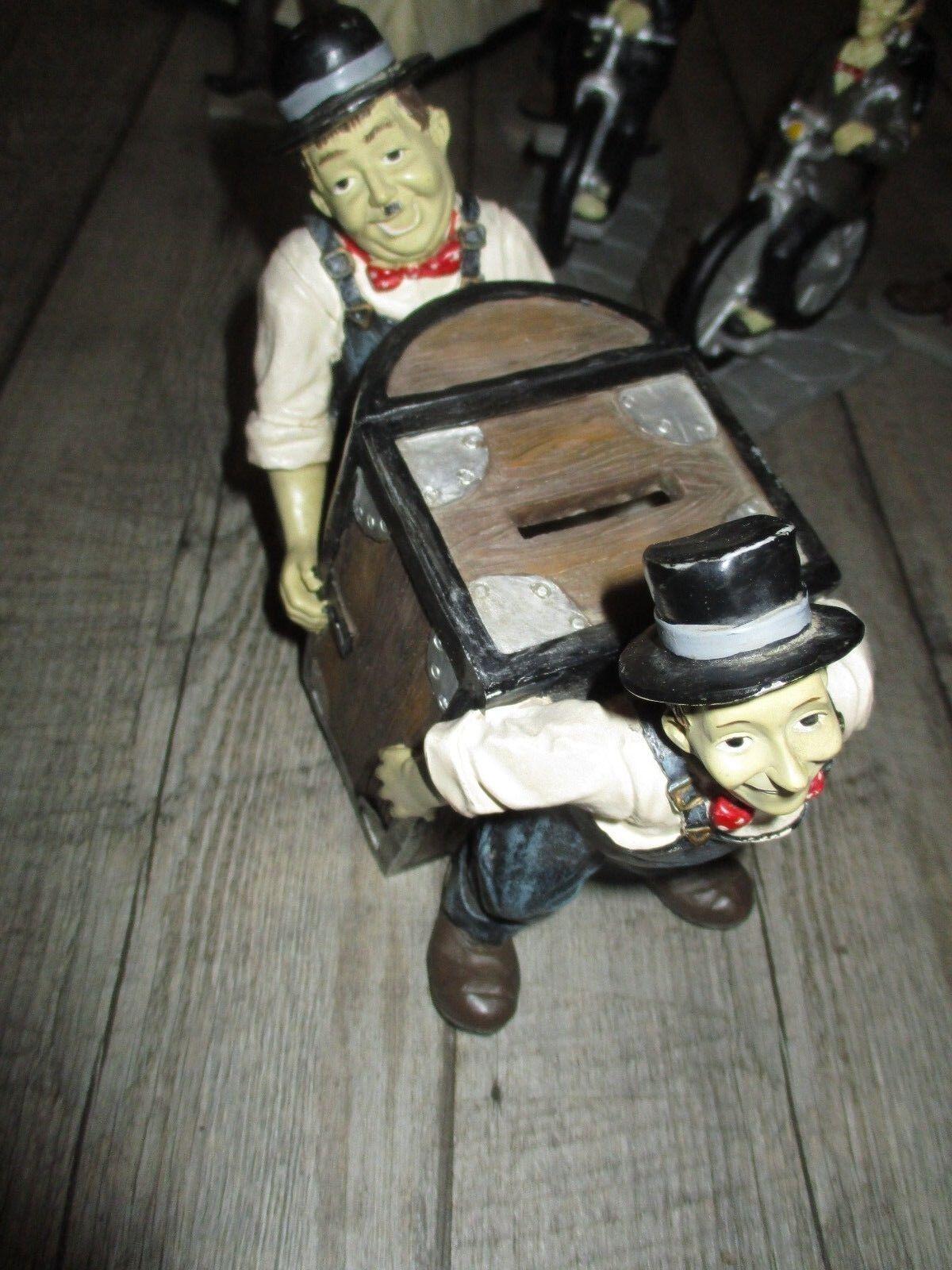 Laurel & Hardy-Alt Szene mit Safe Schweinchen-Grand size-Jahre 70-TBE