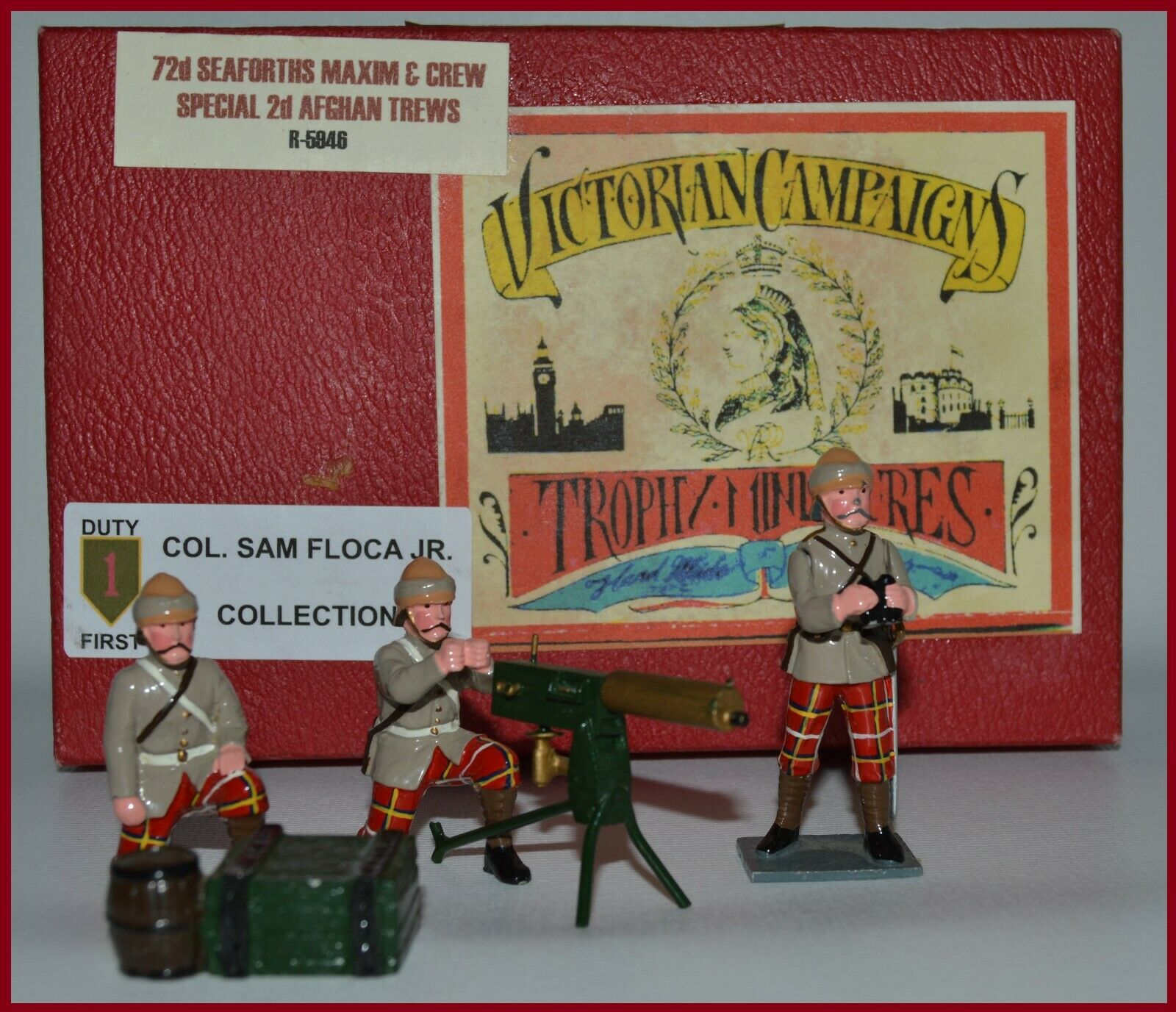 Trophy of Wales  72nd Seaforths Maxim Gun Crew  Floca Collection AA-10424