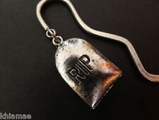 RIP Gravestone Bookmark gothic pagan wicca silver book mark halloween tombstone