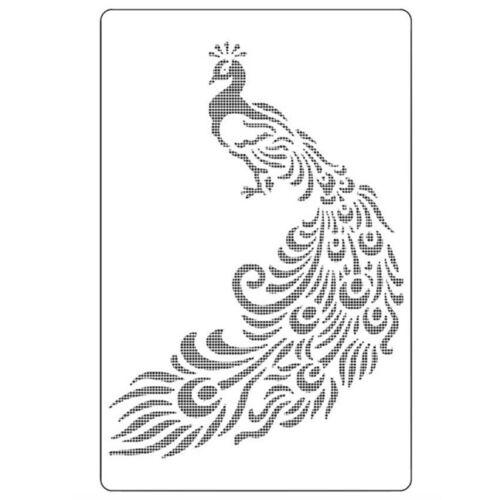 Pavo Real Craft Capas Plantillas Paredes Arte Pintura álbum de recortes Sello Herramienta