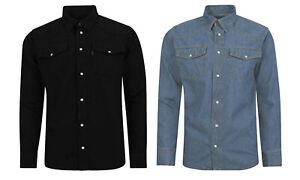 Denim-de-Superdry-clasico-de-estilo-occidental-Azul-Y-Negro-Tallas-S-M-L-Xl-2xl-3xl