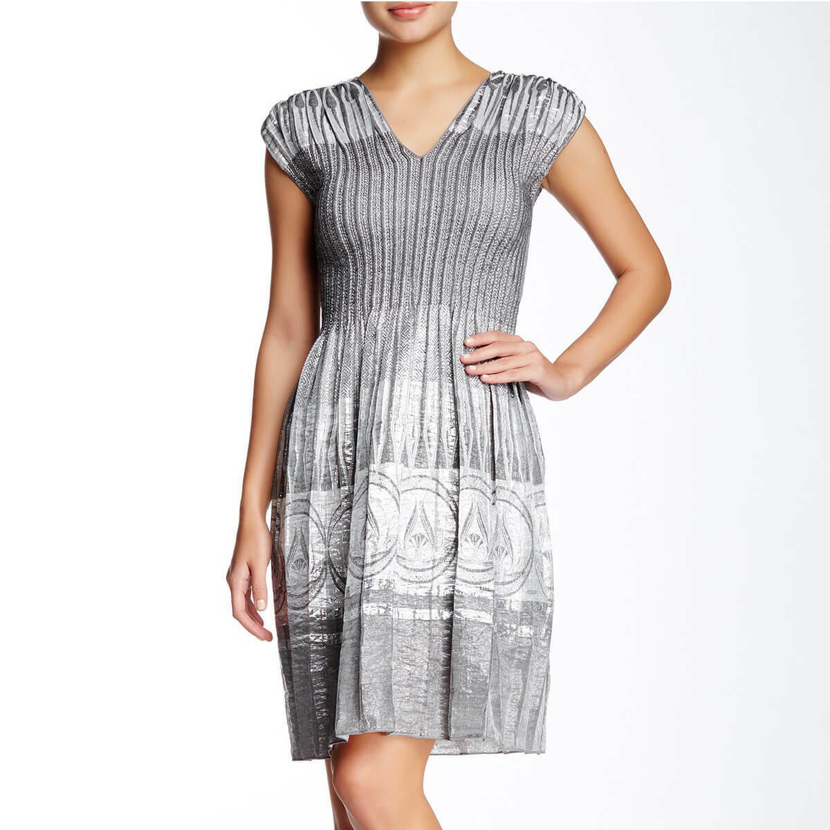 Metallic Jacquard  Dress NWT - SZ-6