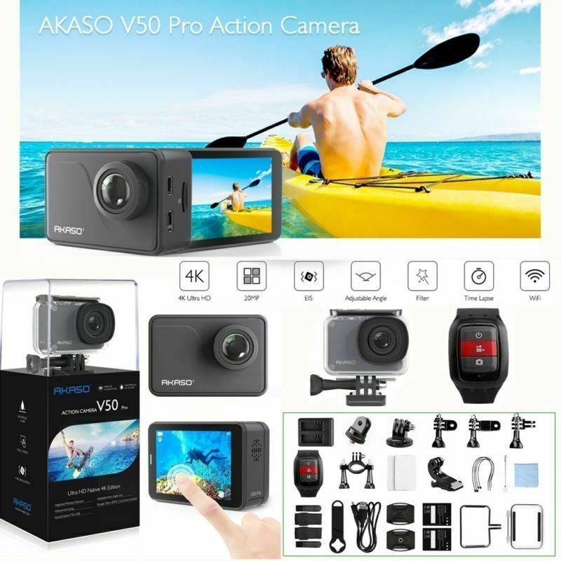 2019 AKASO V50 PRO Action Camera Cam Wifi Native 4K/30fps 20MP Touch Screen New 20mp action akaso cam camera native pro touch v50 wifi