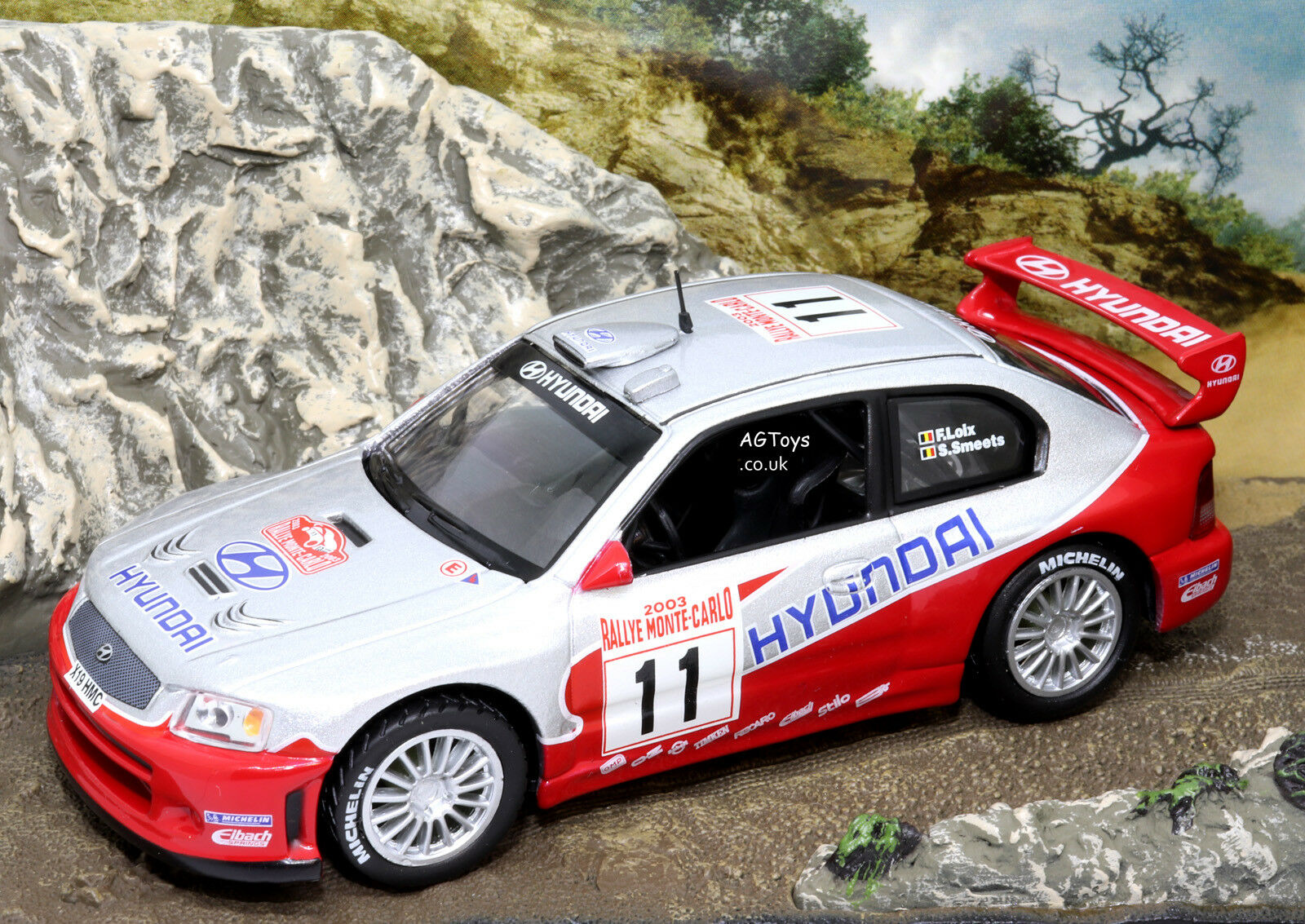 Rally Car Collection Hyundai Accent WRC Acropolis Rally 2003 F.Loix 1 43 Model