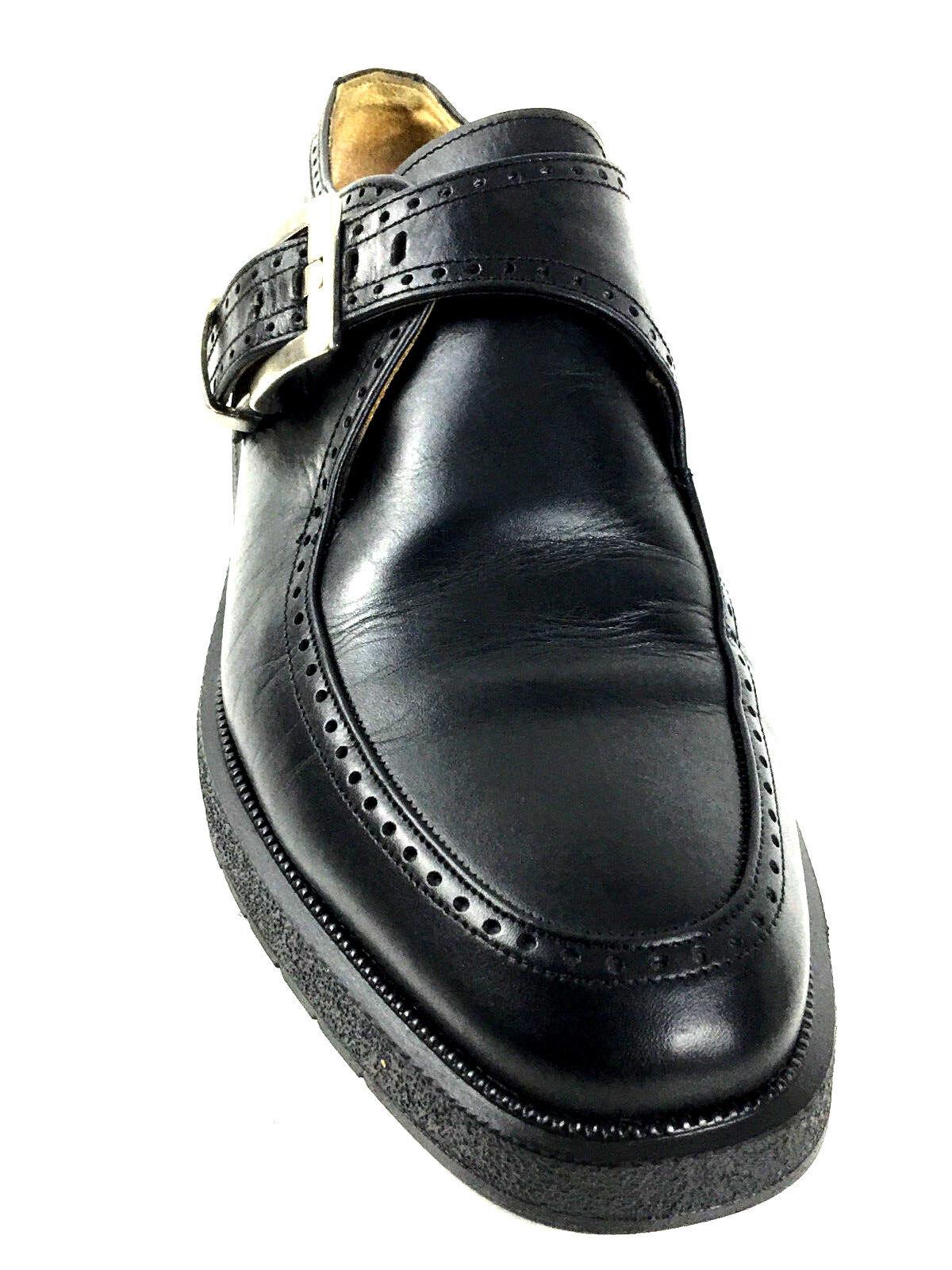 Alberto Guardiani Monk Strap Shoes Black Wmns SZ. EU.39.5 US.8.5-9 Mens US.7-7.5