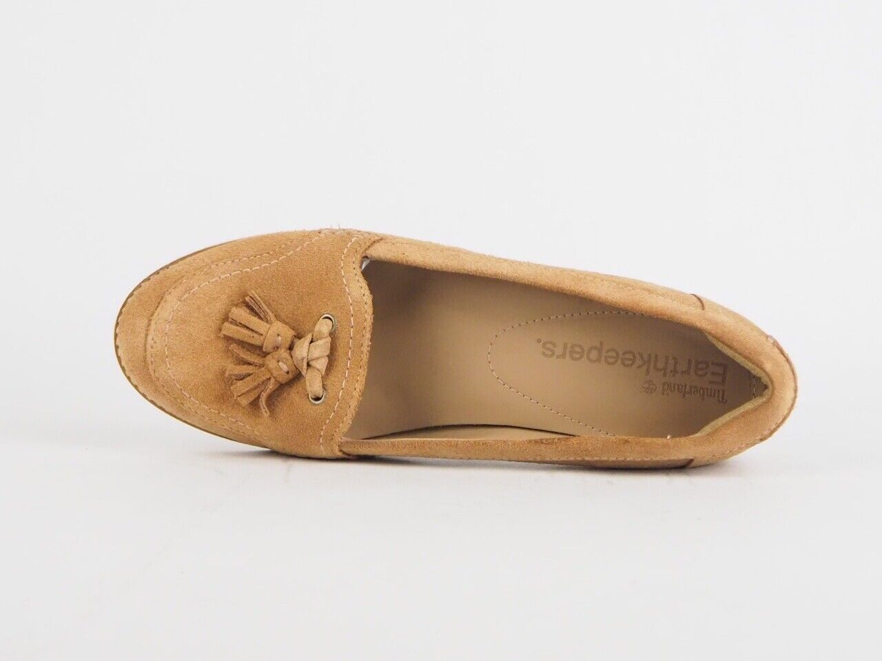 Womens Timberland Thayer RFD Suede 8150R Wheat Leather Slip On Casual Loafers