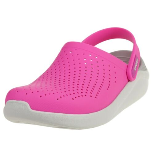 Crocs LiteRide Clog Damen Sandale Relaxed Fit 204592 Pink