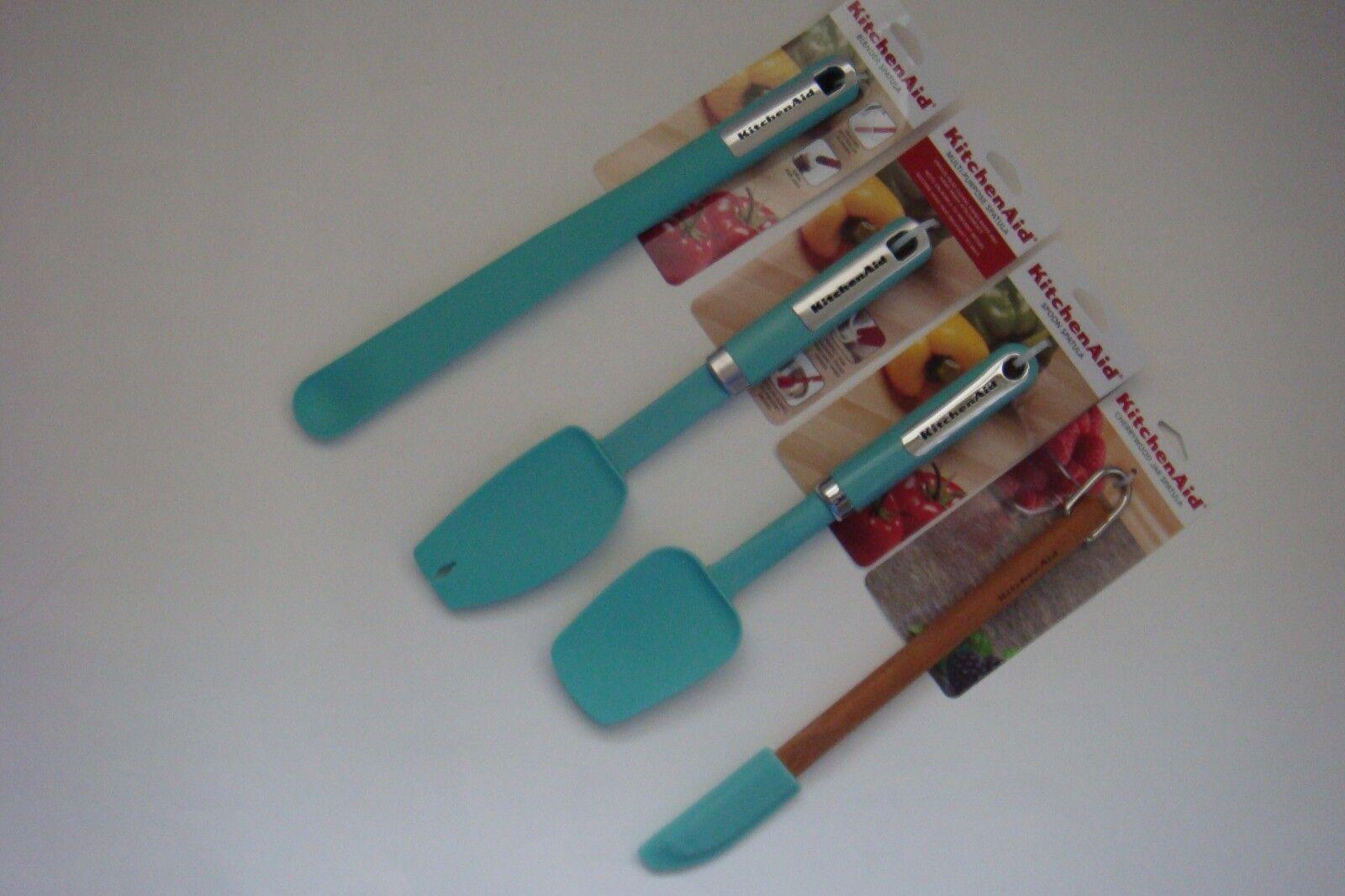 New KitchenAid Aqua Sky (HAQA) Spatulas  Narrow Scraper  Blender  Spoon  Mix