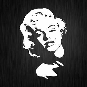 Marilyn-Monroe-Ikone-Konterfei-Fahrzeug-Weiss-Auto-Vinyl-Decal-Sticker-Aufkleber