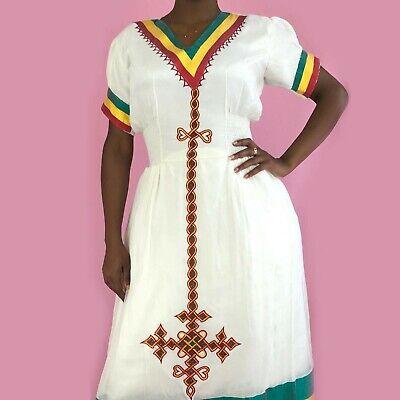 Abito Etiope, Tradizionale Habesa Vestiti, Ricamato, Colori Etiopi-mostra Il Titolo Originale