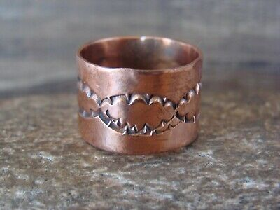Size 7 Navajo Indian Hand Made Copper Band Ring by Verna Tahe!