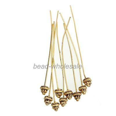 20pcs Classical Style Antiqued Silver/Gold Long Head Pins