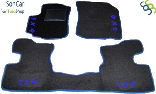 4 decori SUZUKI SX4 TAPPETI tappetini AUTO 4 block