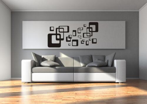 Murales pegatinas salón retro cubos cuadrados tatuaje talla S-XL or014