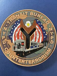 NYPD Pvc patch Counterterrorism Transit Military Camo