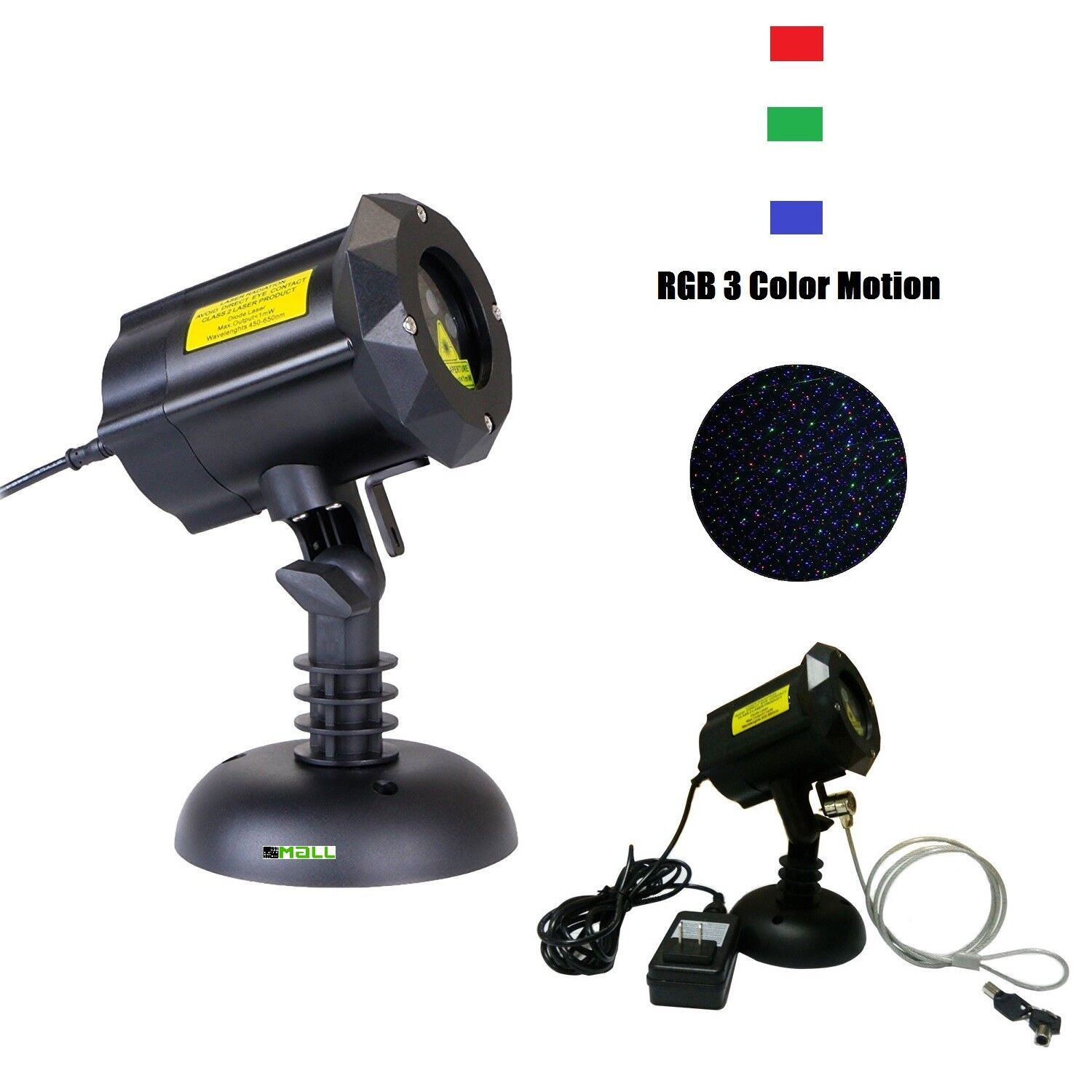 Moving Firefly LEDMALL RGB Outdoor Garden Laser Christmas Lights Lights Lights with RF remote 141251