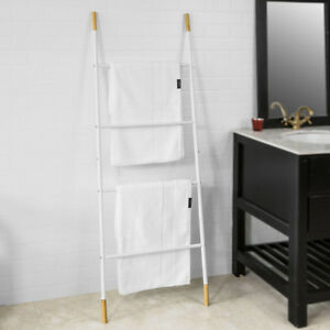 Sensational Details About Sobuy Metal Bathroom Ladder Shelf Towel Holder Stand 4 Rods White Frg264 Wn Uk Interior Design Ideas Clesiryabchikinfo