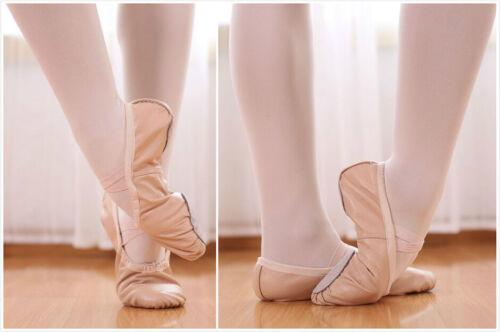 AU SELLER Full Genuine Leather Ballet JAZZ Dance Shoes Child to Adult da030