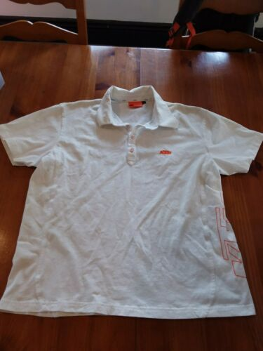 UPW136575 KTM POWERWEAR POLO WHITE//ORANGE MENS XL NS225