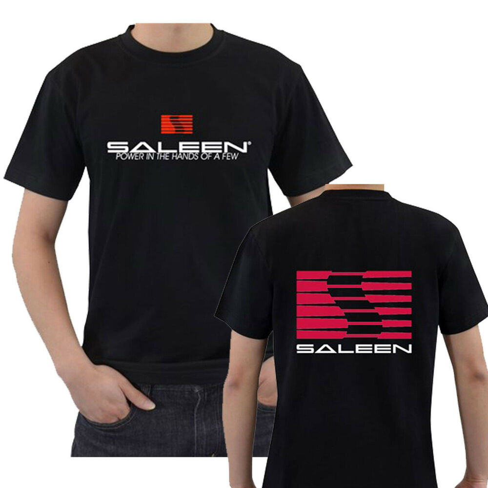 SALEEN Muscle Car Tee Cotton Black T-Shirt New Men's Tshirt Size S to 3XL