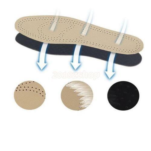 Atmungsaktive Orthopädische Leder Einlegesohlen Schuheinlagen Fußbett Foot Pads